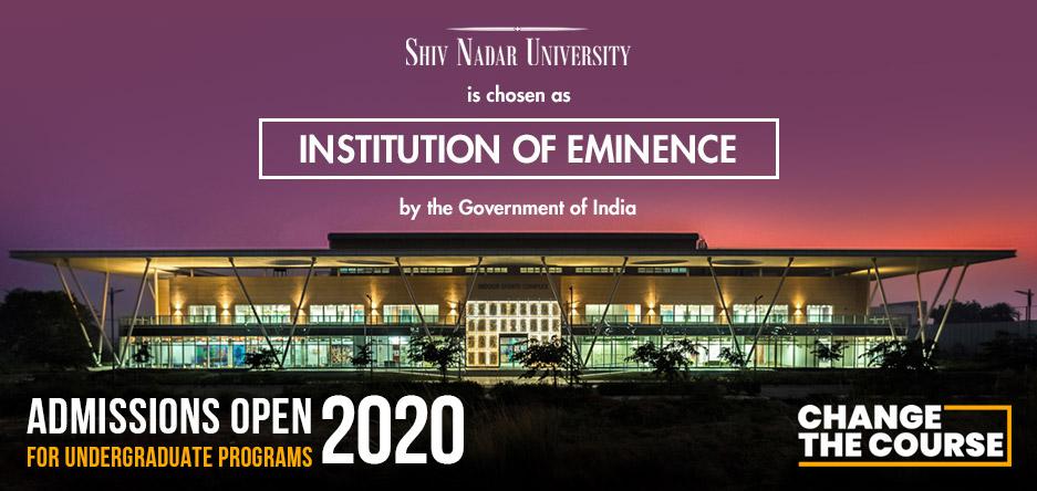 Shiv Nadar University : Admission Information 2019
